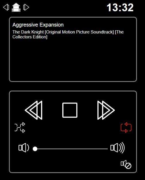 Musik Player GUI für die Heos Steuerung